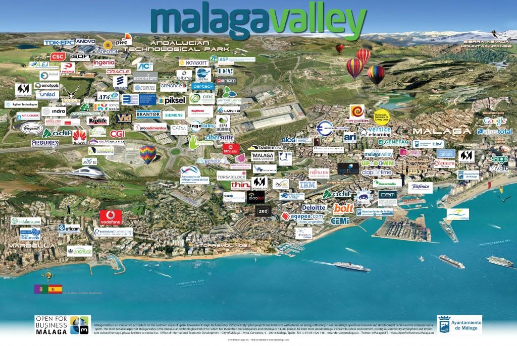 Mapa Malaga Valley ampliado